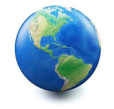 Fototapeta Ziemia na białym tle