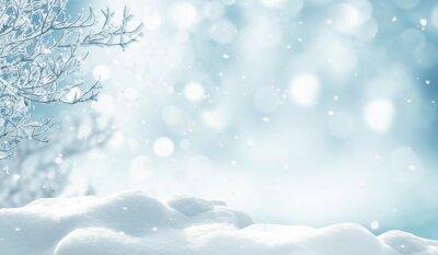 Fototapeta zima Boże Narodzenie w tle