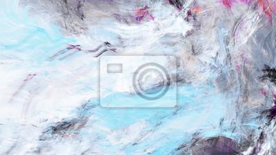 Zimowe morze Miękkie niebieskie tło. Jasne plamy artystyczne. Malarstwo abstrakcyjne kolor tekstury. Nowoczesny futurystyczny wzór. Fraktalna grafika do kreatywnego projektowania graficznego