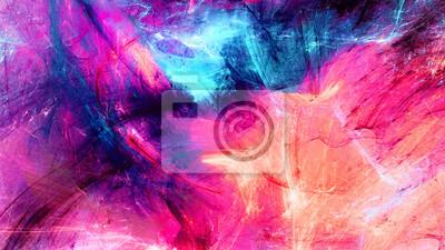 Zimowe wielokolorowe pi? Kny futurystyczny wzór. Abstrakcyjne malowanie jasny kolor tekstury. Jasne nowoczesne artystyczne tło ruchu. Fraktalna grafika dla kreatywnego projektowania graficznego