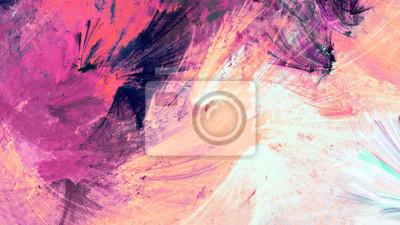 Zimowe wielokolorowe pi? Kny futurystyczny wzór. Abstrakcyjne malowanie jasny kolor tekstury. Jasne nowoczesne artystyczne tło ruchu. Fraktalna grafika do kreatywnego projektowania graficznego