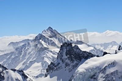 Fototapeta Zimowy krajobraz na Matterhorn