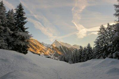 Fototapeta Zimowy wieczór w Tyrolskich górach