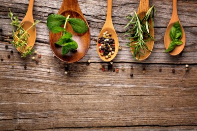 Fototapeta zioła i przyprawy