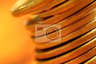 Fototapeta złote monety