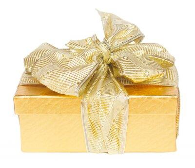 Fototapeta złote pudełko