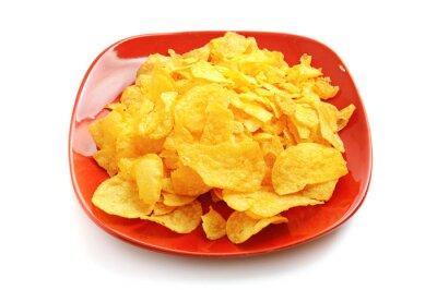 Złote świeże chipy