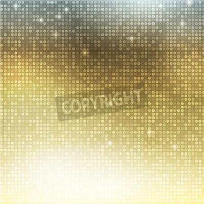 Fototapeta Złoty tła wektora. Pionowe mozaiki z plamkami światła
