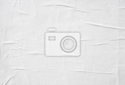 Fototapeta zmięty białym papierze