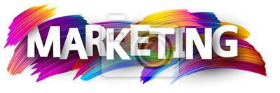 Fototapeta Znak marketingowy z kolorowe pociągnięcia pędzlem.