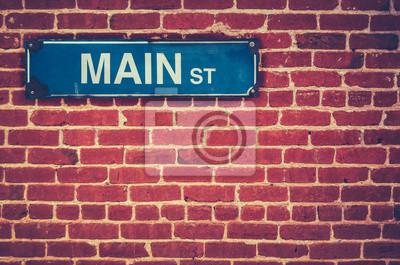 Fototapeta Znak retro Main Street