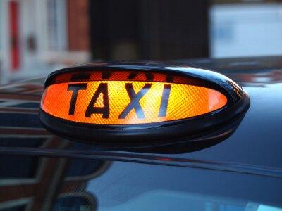 Fototapeta Znak taxi