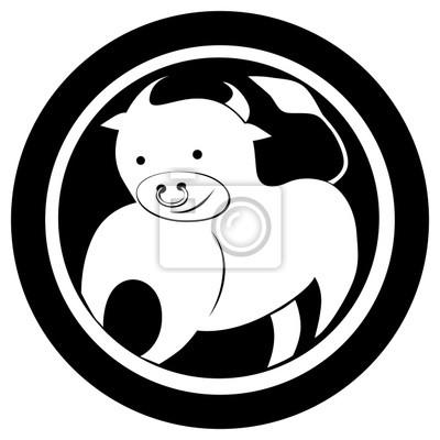Znak Zodiaku Byk Tatuaż Fototapety Redro