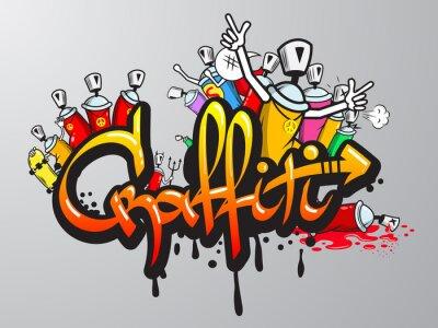 Fototapeta Znaków Graffiti druku