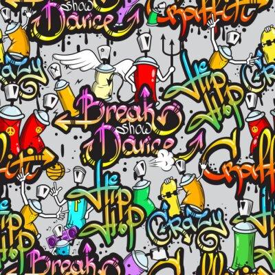 Fototapeta Znaków Graffiti szwu wzór