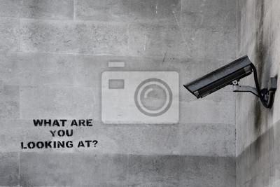 Fototapeta Znani Banksy CCTV Graffiti