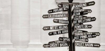 Fototapeta Znani drogowskaz do zabytków w Portland, Oregon