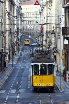 Fototapeta Znani tramwaj 28, Lizbona, Portugalia