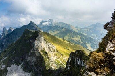 Fototapeta Zobacz w Breccaschlund od Schopfenspitz, Fribourg Alpach, Szwajcaria
