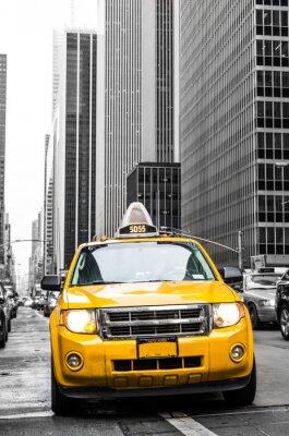 Fototapeta żółta taksówka w Nowym Jorku