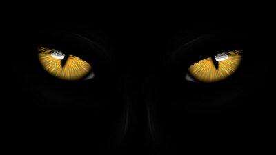 Fototapeta żółte oczy czarne Panther