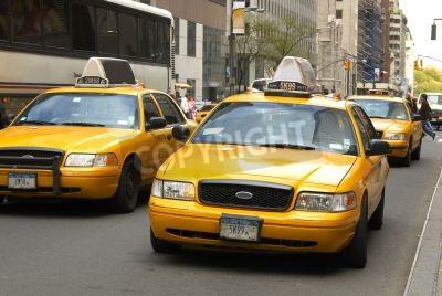Fototapeta Żółte taksówki w Nowym Jorku