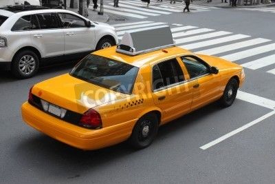 Fototapeta Żółte taksówki w streeets Nowego Jorku