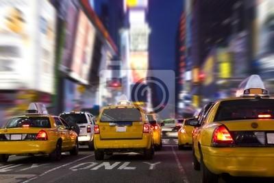 Fototapeta Żółte taksówki w Time Square, New York City