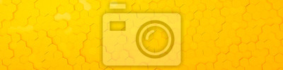 Fototapeta żółte tło sześciokątne