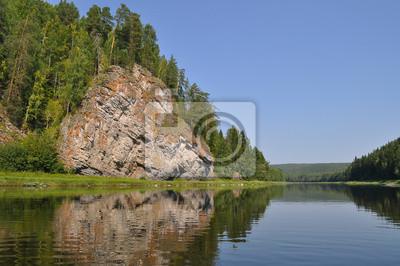 Żółty kamień na rzece Chusovaya