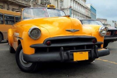 Fototapeta Żółty Kubańska Taxi