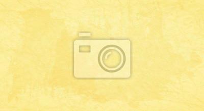 Fototapeta Żółty porysowany tło z plamami farby.