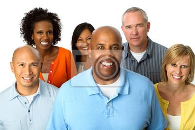 Fototapeta Zróżnicowana grupa ludzi. Wielokulturowy grupa ludzi.