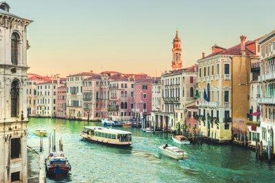 Fototapeta Życie na Canal Grande w Wenecji, Włochy