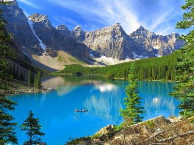 Fototapeta Żywe barwy jeziora morenowe w Banff National Park, Kanada