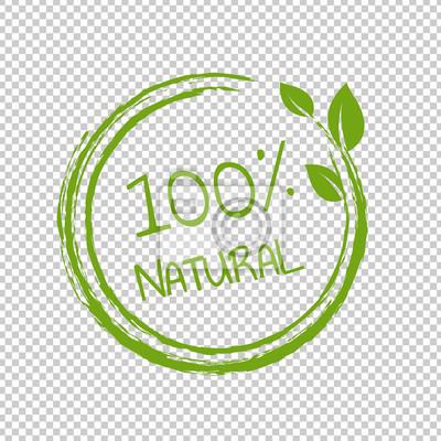 Naklejka 100% Natural Product Transparent Background