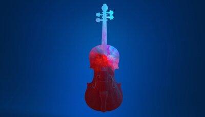 Naklejka 3d abstract violin