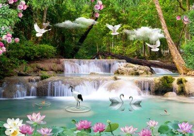 Naklejka 3d background nature wallpaper