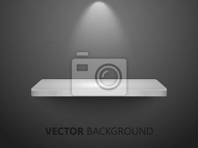3d Białe Półki Na Czarnej ścianie Użyteczny Dla Eksponatów Vector Naklejki Redro
