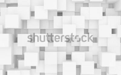 Naklejka 3d kwadraty illustraiton