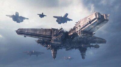 Naklejka 3d UFO