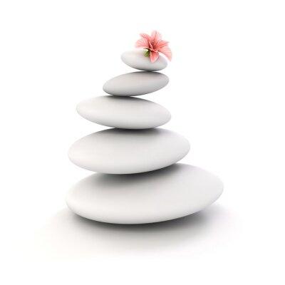 Naklejka 3d zen spa kamienie