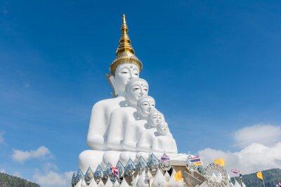 Naklejka 5 siedzi Buddów, Tajlandia