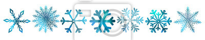 Naklejka A set of colorful snowflakes. Vector illustration
