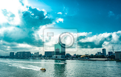 Naklejka A view of the Lagoon, Victoria Island, Lagos