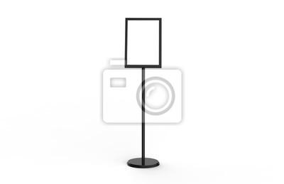 Naklejka A3 plakatu stojaka podłogowy pokaz, stojaki Snap rama, plakat deska, menu właściciel, reklama znaka stojak na białym tle, 3D ilustracja