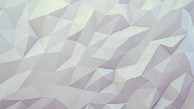 Naklejka abstract 3d render background. Techno triangular low poly background