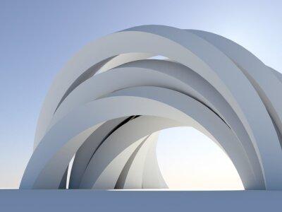 Naklejka Abstract arch na niebiesko