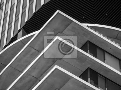 Naklejka Abstract background architecture lines. modern architecture detail