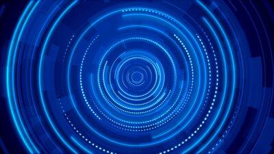 Naklejka Abstract circle blue future technology background.